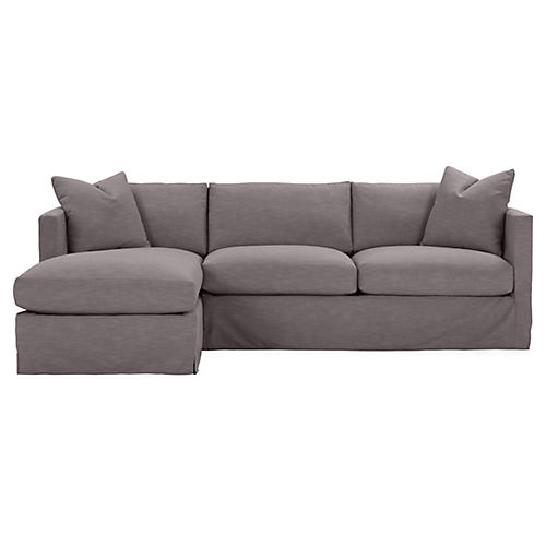 Shaw Left-Facing Sectional, Charcoal Crypton