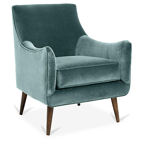 Oliver Accent Chair, Sage Crypton