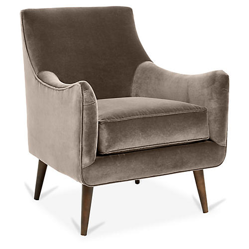 Oliver Accent Chair, Café Crypton