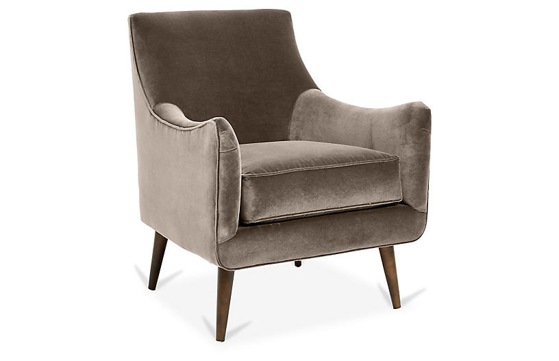 Oliver Accent Chair, Café Crypton