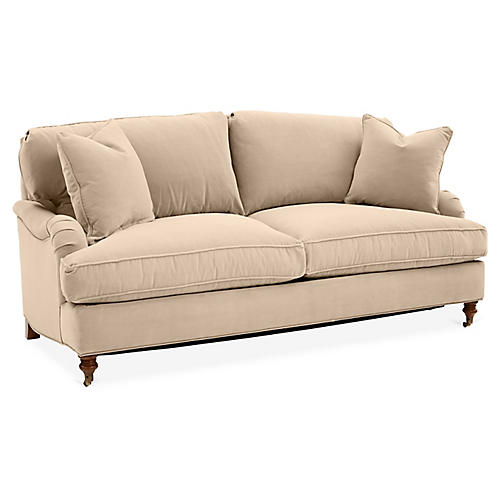 Brooke Sleeper Sofa, Bisque Crypton