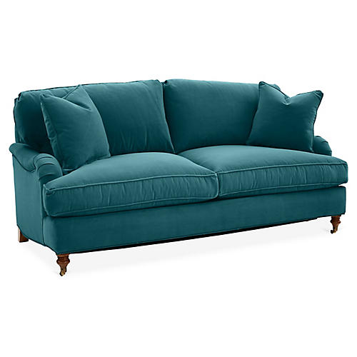 Brooke Sleeper Sofa, Peacock Crypton