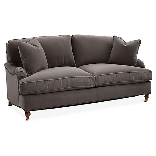 Brooke Sleeper Sofa, Charcoal Velvet
