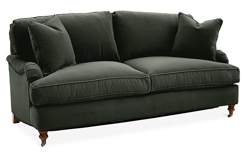Marvelous Brooke Sleeper Sofa Forest Green Velvet Machost Co Dining Chair Design Ideas Machostcouk
