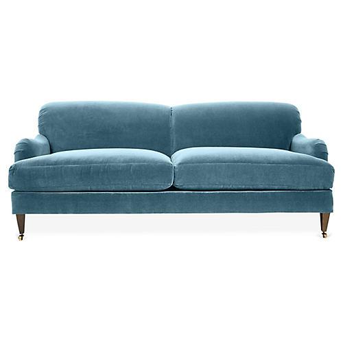 Brampton Sofa, Colonial Blue Crypton