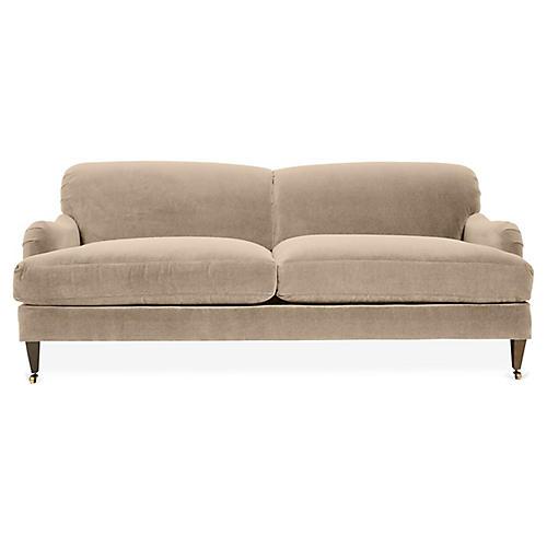 Hayes Sofa, Bisque Crypton Velvet
