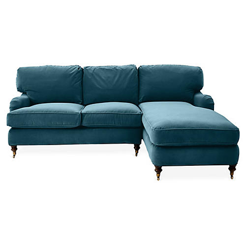 Brooke Right-Facing Sectional, Adm. Blue Crypton