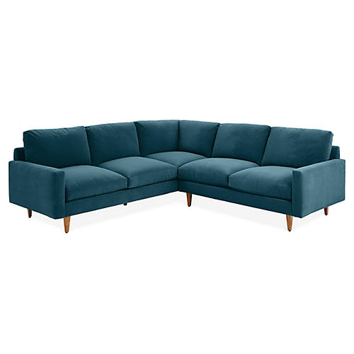 Oslo Sectional, Admiral Blue Crypton