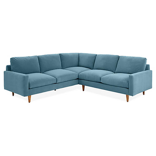 Onslow Sectional, Colonial Blue Crypton