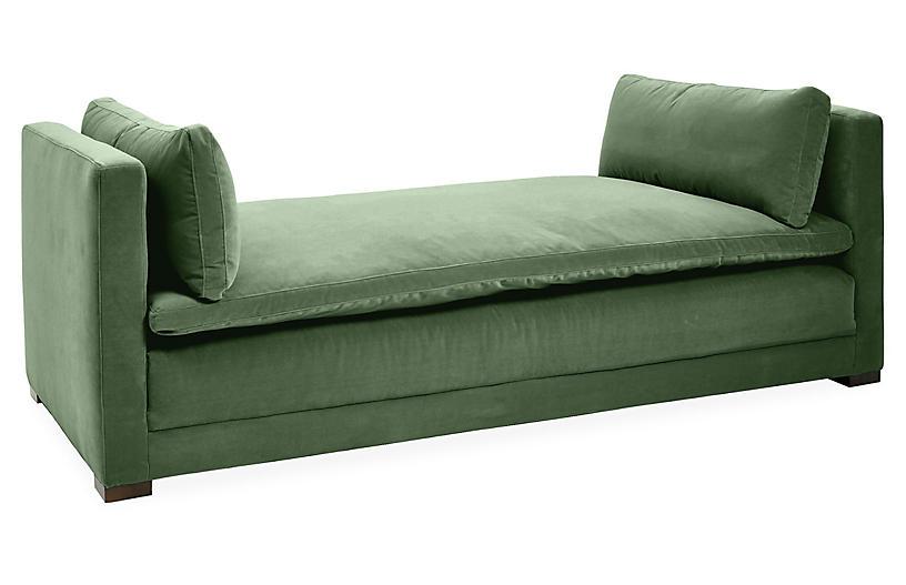 Elmore Daybed, Emerald Velvet
