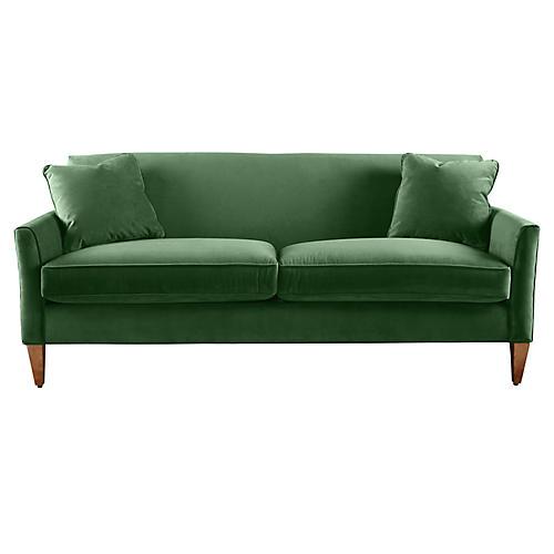 Milo Sofa, Emerald Velvet