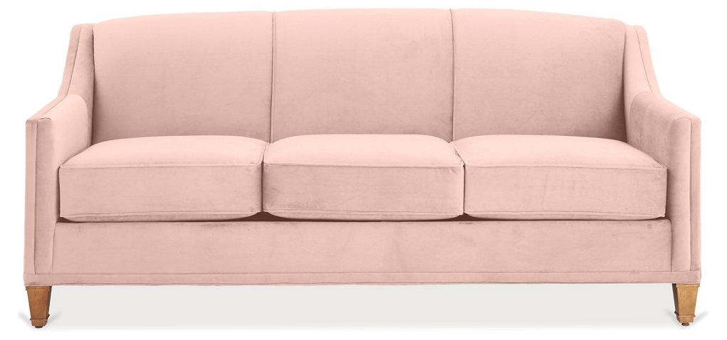 Erin Sleeper Sofa, Blush Pink Velvet - Sleeper Sofas - Sofas ...