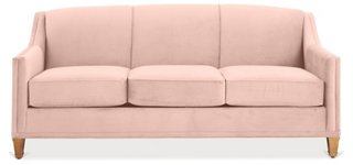 Erin Sleeper Sofa, Blush Pink Velvet   Sleeper Sofas   Sofas U0026 Settees    Living Room   Furniture | One Kings Lane