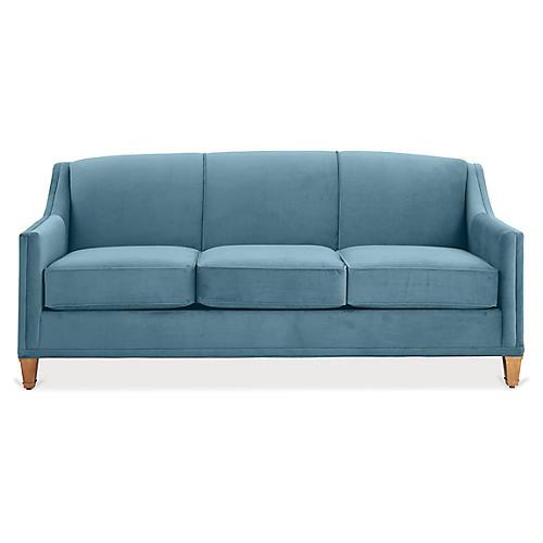 Erin Sleeper Sofa, Colonial Blue Crypton