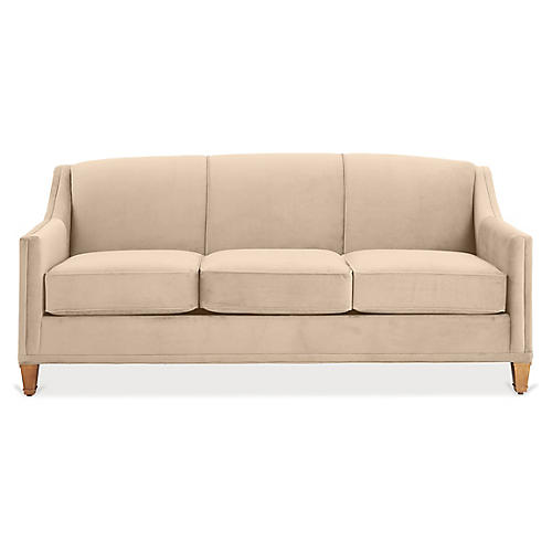 Erin Sleeper Sofa, Bisque Crypton