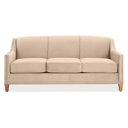 Erin Sleeper Sofa, Bisque Crypton