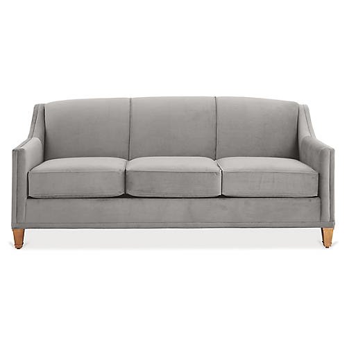Erin Sleeper Sofa, Light Gray Crypton
