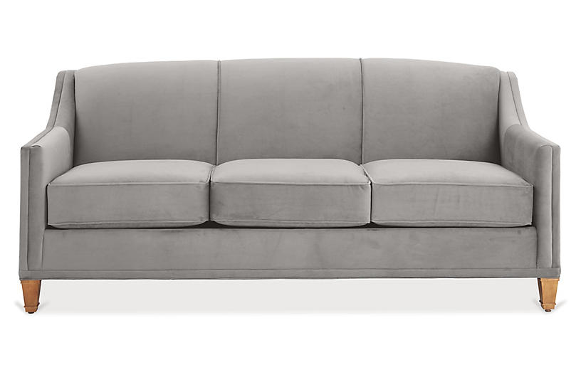Erin Sleeper Sofa, Light Gray Crypton