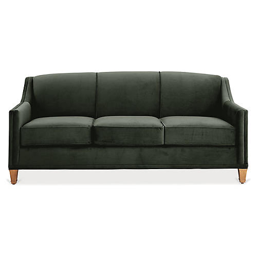 Erin Sleeper Sofa, Forest Green Velvet