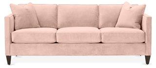 Cecilia Sofa Blush Pink Velvet Sofas Sectionals Furniture