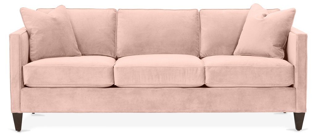 Cecilia Sofa Blush Pink Velvet Sofas Sectionals Furniture