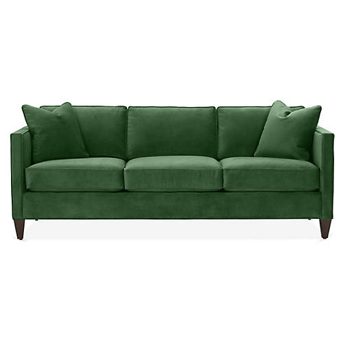 Cecilia Sleeper Sofa, Emerald Velvet