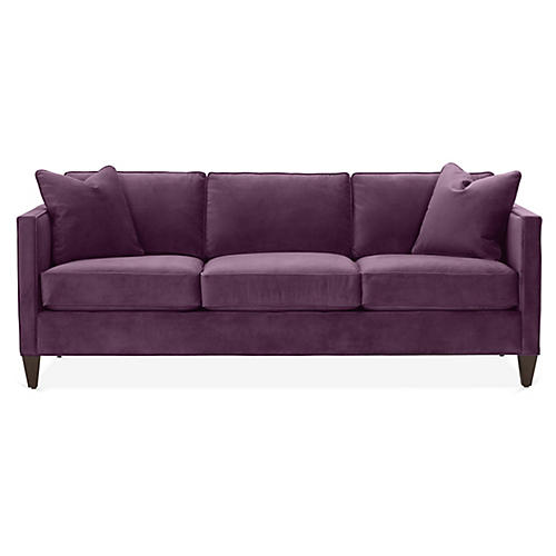 Cecilia Sleeper Sofa, Fig Velvet