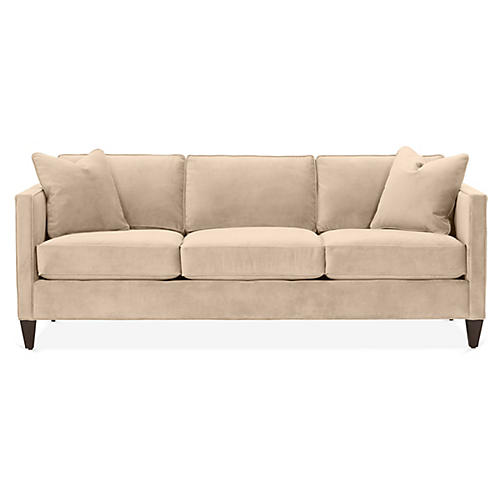 Cecilia Sleeper Sofa, Bisque Velvet