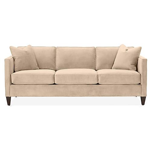 Cecilia Sleeper Sofa, Bisque Velvet