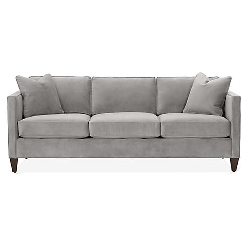 Cecilia Sleeper Sofa, Light Gray Crypton