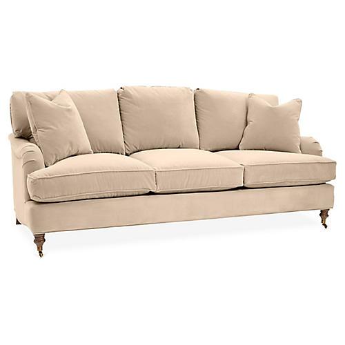 Brooke 3-Seat Sofa, Bisque Crypton