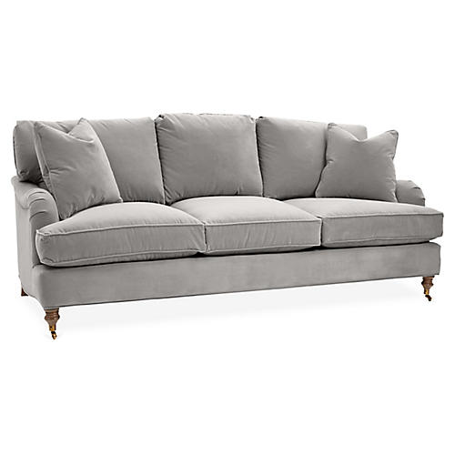 Brooke 3-Seat Sofa, Light Gray