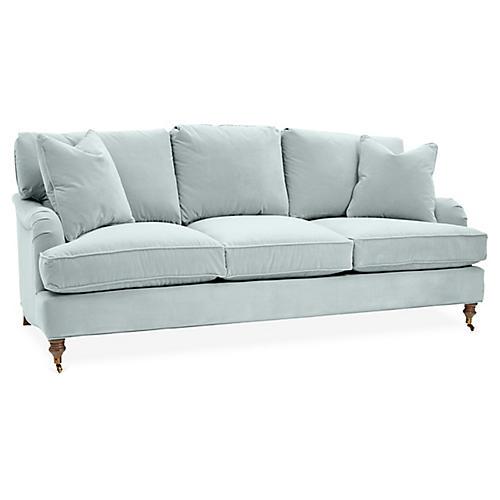 Brooke 3-Seat Sofa, Seafoam Crypton