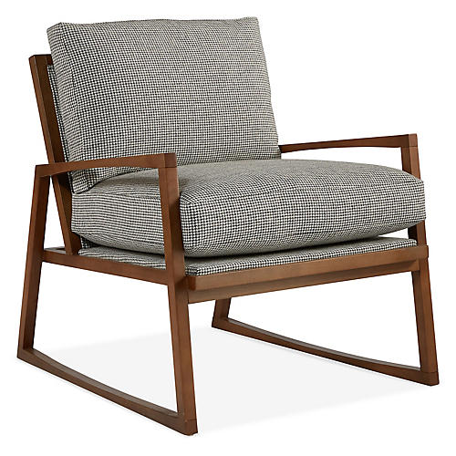 Markus Chair, Charcoal Houndstooth
