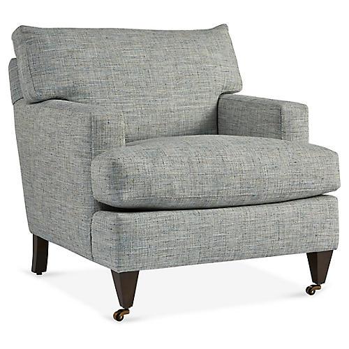 Tatum Club Chair, Sea Blue