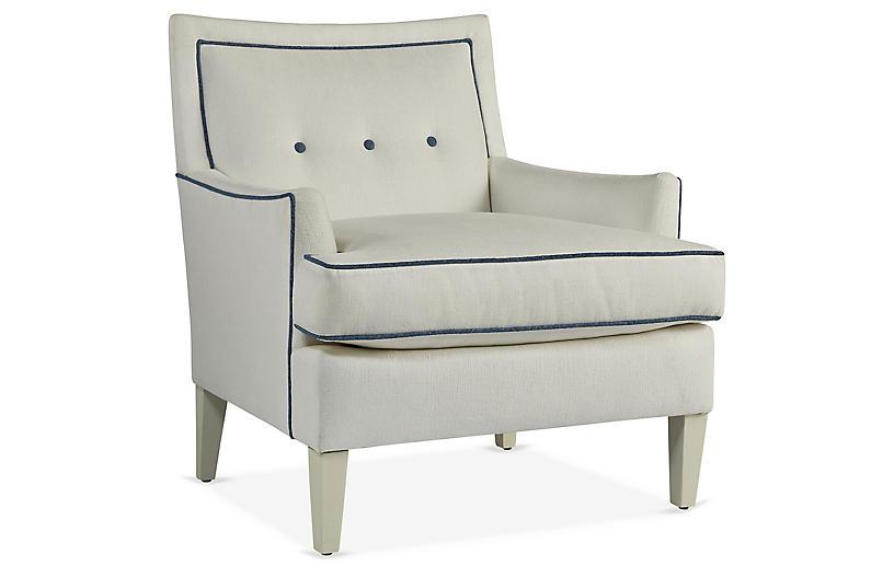 Prime Aria Accent Chair Royal Blue White Crypton Machost Co Dining Chair Design Ideas Machostcouk