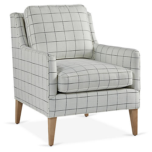 Alice Accent Chair, Black/Ivory