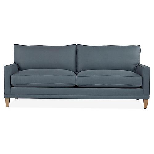 Morgan Sofa, Steel Blue
