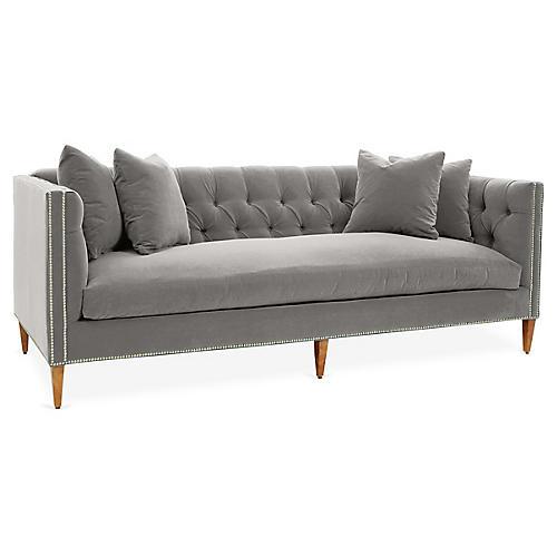 Moreau Sofa, Light Gray Crypton