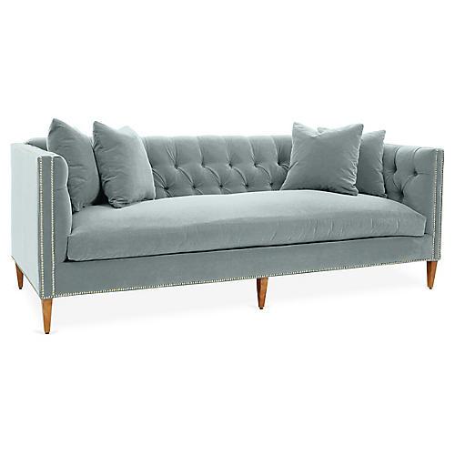 Brette Sofa, Seafoam Crypton