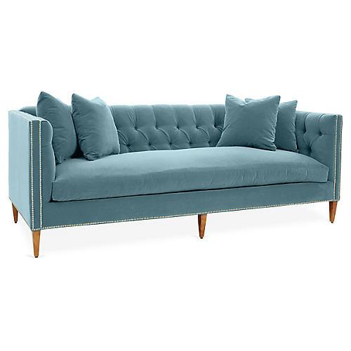 Moreau Sofa, Light Blue Crypton