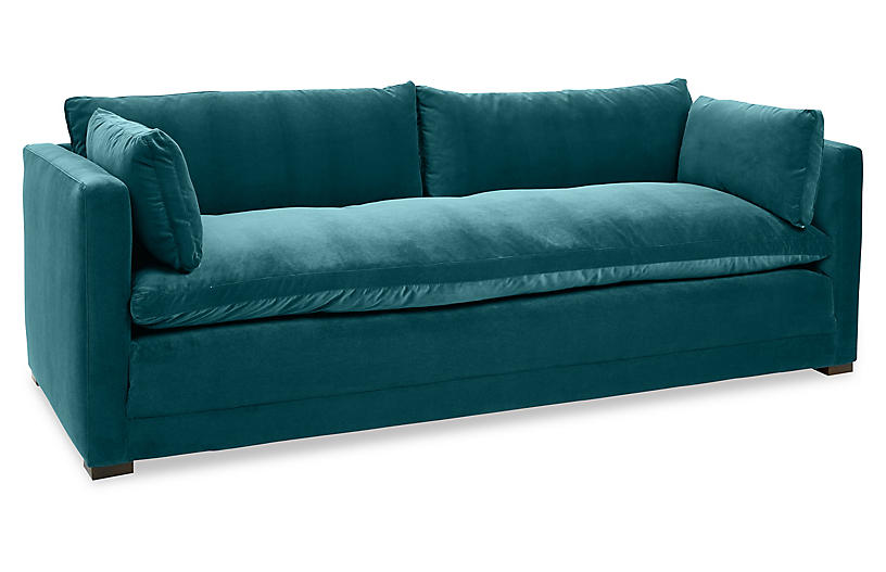Elmore Sofa, Peacock Crypton