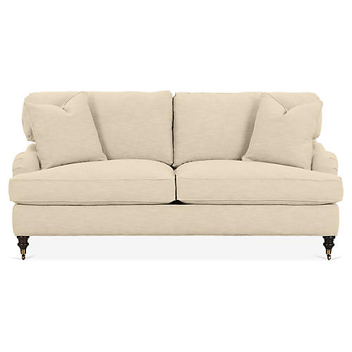 Brooke Sleeper Sofa, Flax Crypton