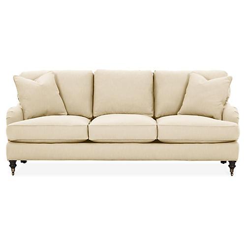 Brooke 3-Seat Sofa, Flax Crypton