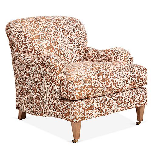 Brampton Club Chair, Spice Frolic
