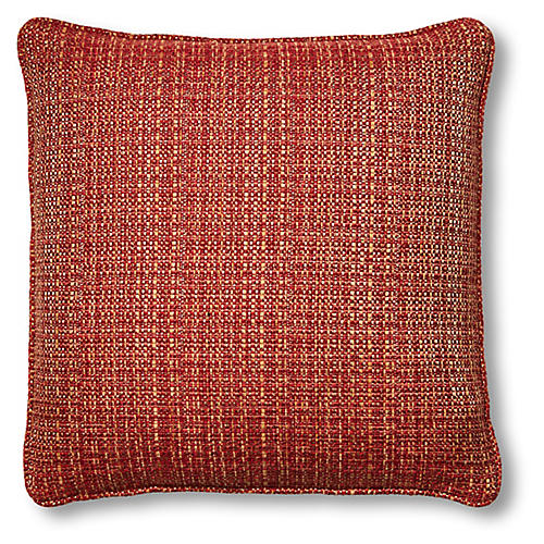 Beatrice 20x20 Pillow, Red/Gold