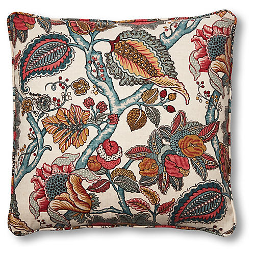 Dottie 20x20 Pillow, Holiday Floral