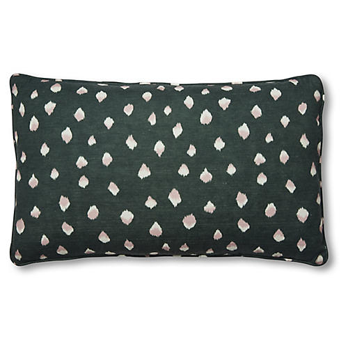 Clara 15x25 Lumbar Pillow, Forest/White