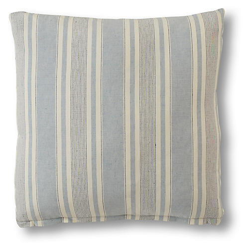 Aspen Pillow, Federal Blue Linen