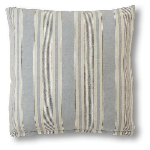 Aspen Pillow, Federal Blue Linen